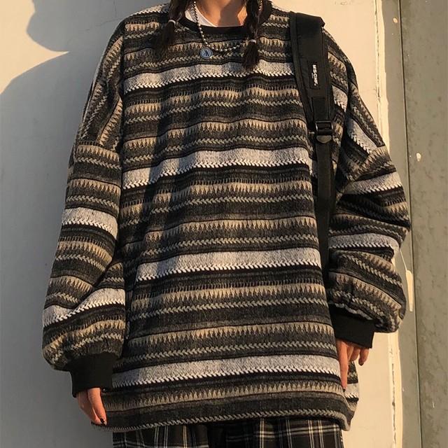 【レディース】ボーダーセーター