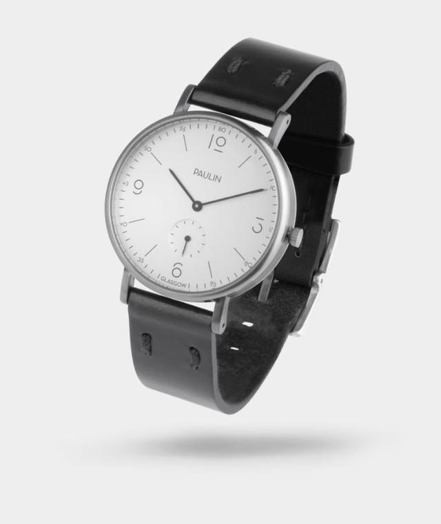 ポーリン コミューター・ヌメリカルC 腕時計 シルバー/ブラック TN100C-BL-B