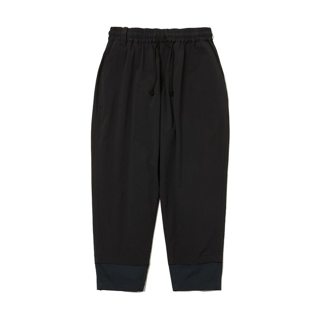 STRETCHED TAPERED SARROUEL PANTS -BLACK