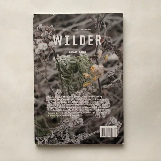 Wilder Quarterly / Volime1, IssueⅡ- Winter