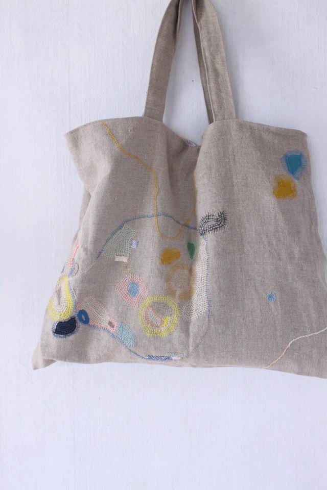 spica.g darning stitch textile tote