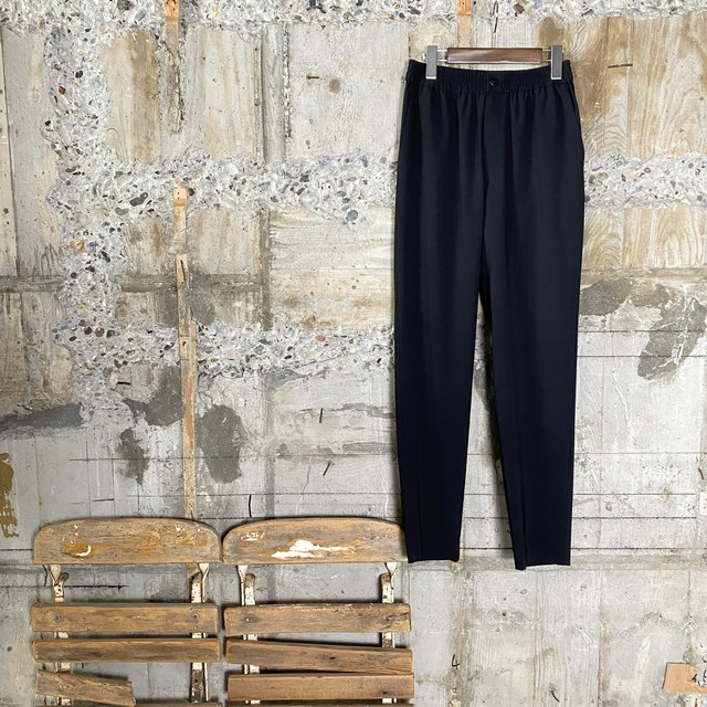HYKE【ハイク】 STRETCH TAPERED PANTS (13182/BLACK).