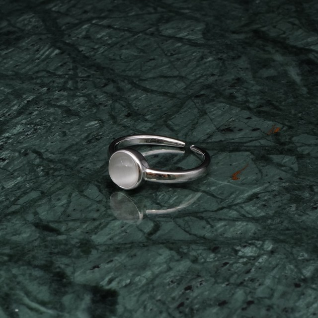 CAT'S EYE RING SILVER 001