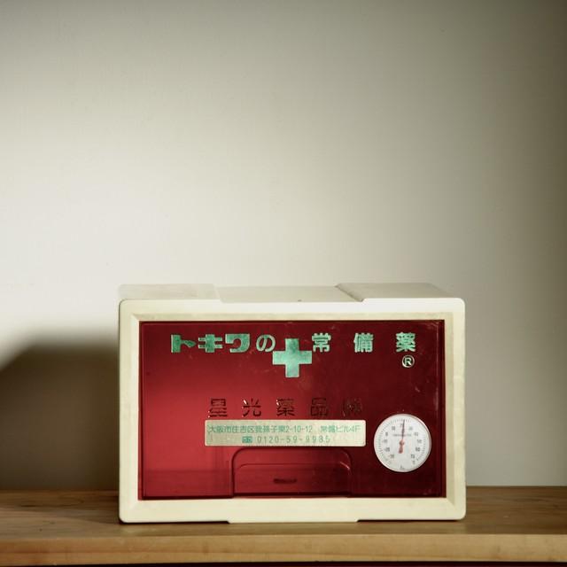 【置き薬箱】トキワの常備薬 星光薬品 温度計付き 昭和レトロ