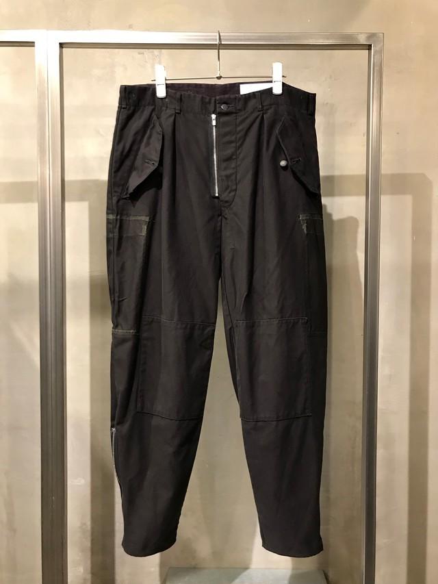 TrAnsference side zip Swedish army tapered pants - dark plum