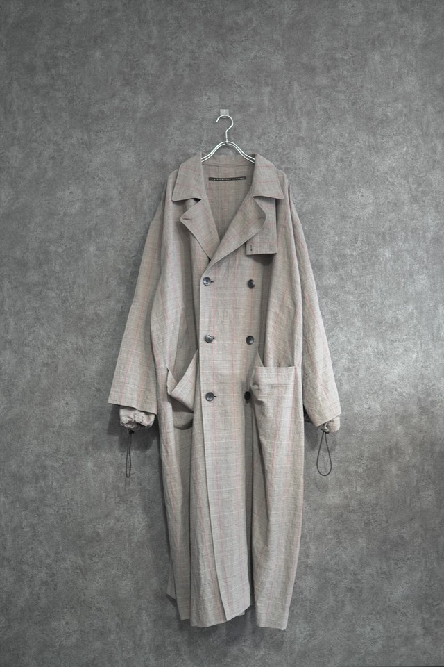 【 winter Special price 30%OFF】my beautiful landlet cotton linen big trench (CHECK)