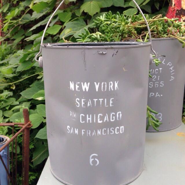 リメイク缶 グレー NEW YORK