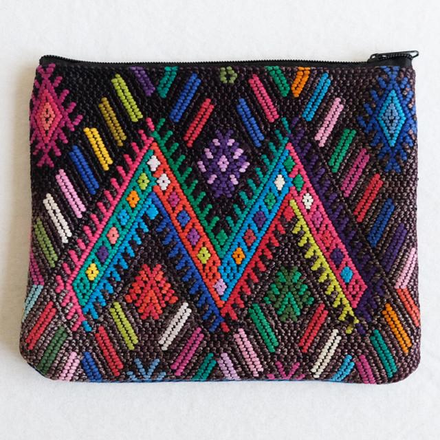 民族衣装の織りウィピルポーチ /231e/ GUATEMALA グアテマラ