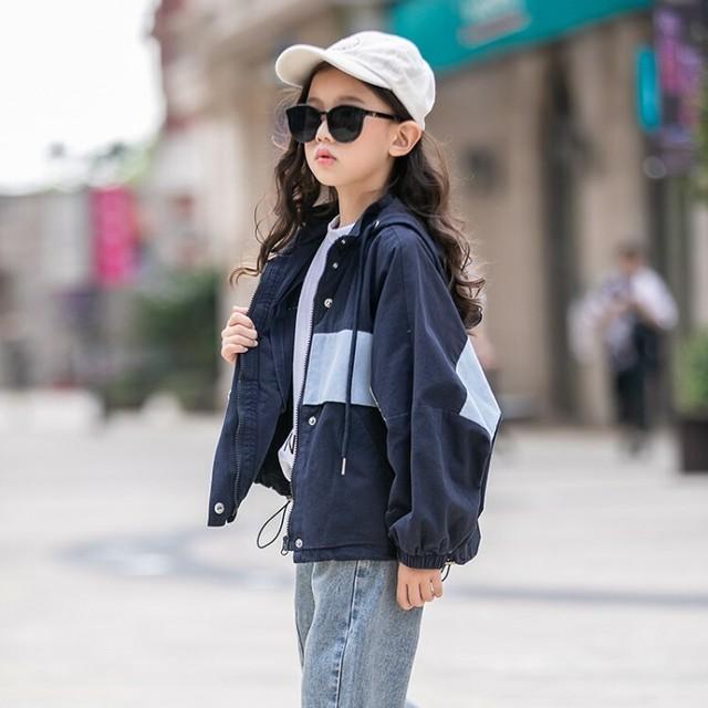 (KIDS)ルーズフィットフードジャケット ジャケット 子供服 キッズ服 キッズ 韓国ファッション