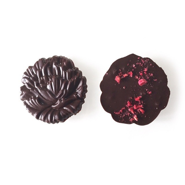 flower medal raspberry(お花メダルラズベリー)raw chocolate
