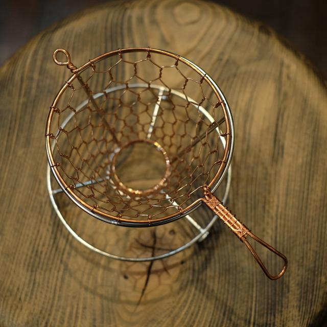 辻和金網 銅製手編みコーヒードリッパー (大)