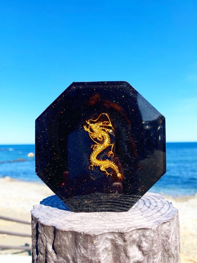 【龍神】八角オルゴナイト(約10cm)イヤシロチパウダー