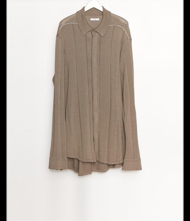 【 Pre-Order 】Knit Shirt / L.Brown