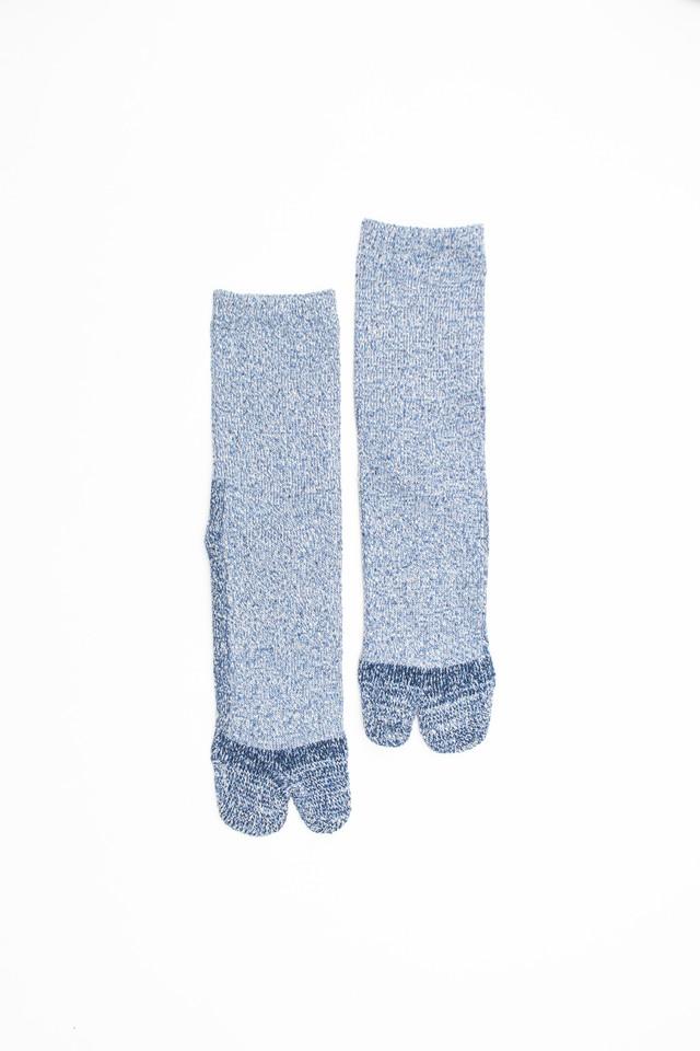 Cotton Silk Socks(Blue)