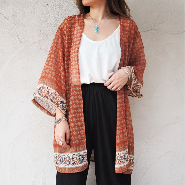 Chiffon Kimono Cardigan A《ORG》18383085-a