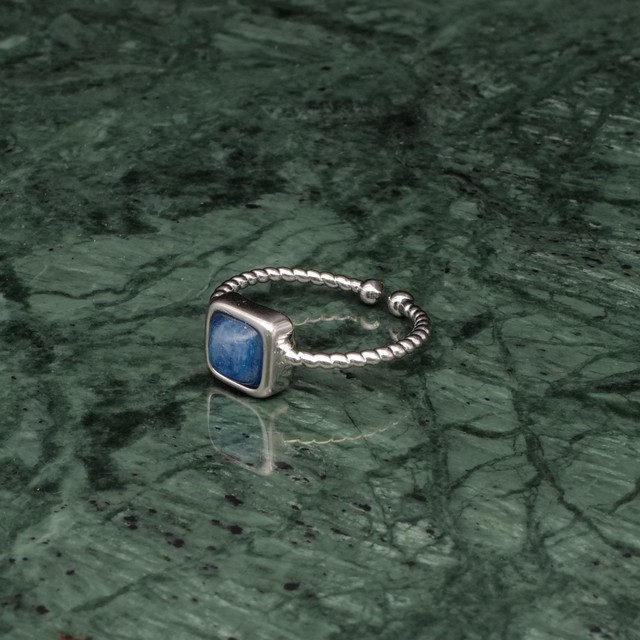 SINGLE MINI STONE RING SILVER 028