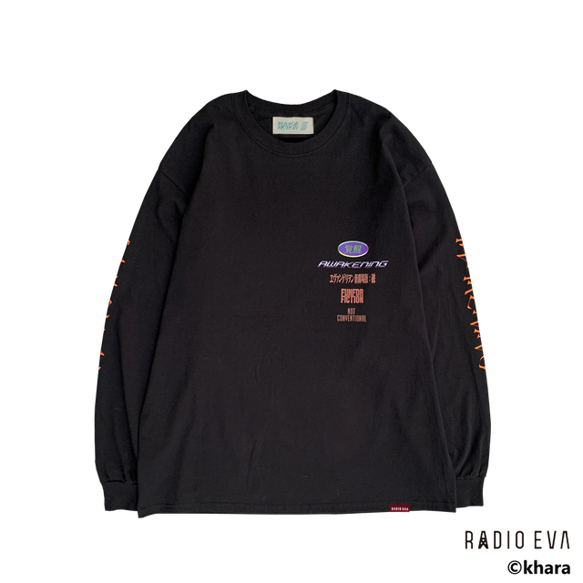 Unit-01 AWAKENING L/S Tee ( BLACK  )   /  RADIO EVA