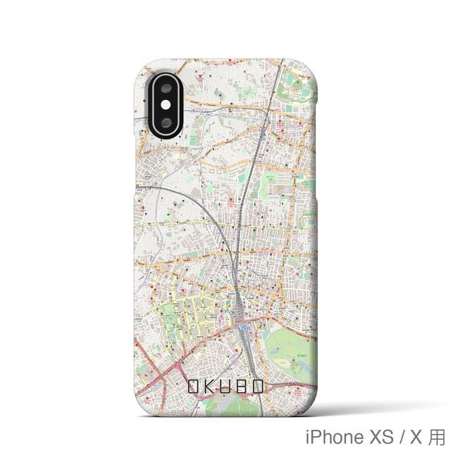 【大久保】地図柄iPhoneケース(バックカバータイプ・ナチュラル)
