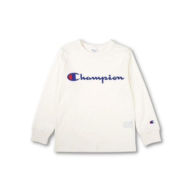 Champion ロゴプリント長袖Tシャツ