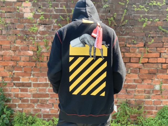 UNDERCOVER 19AW × OFF-WHITE SKELETON RVRS ZIP HOODIE BLACK LARGE 500JA3257