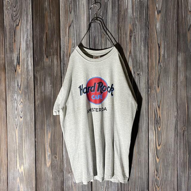[Hard Rock Cafe]Amsterdam  gray T shirt