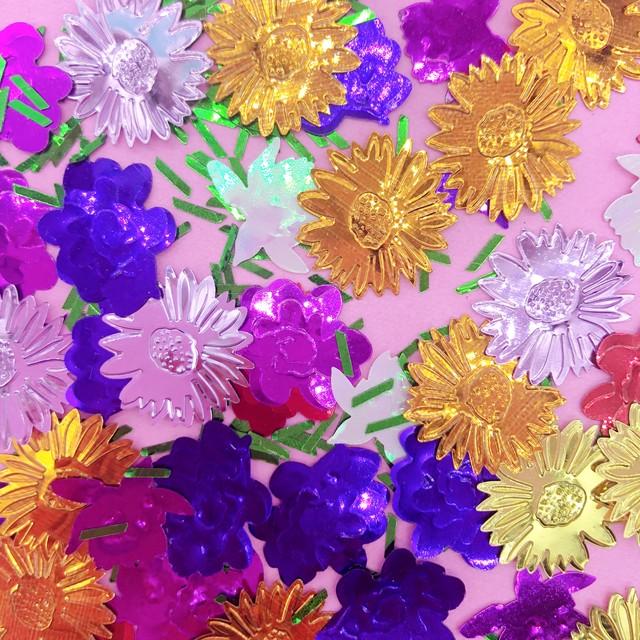 US輸入 コンフェッティ Flower garden