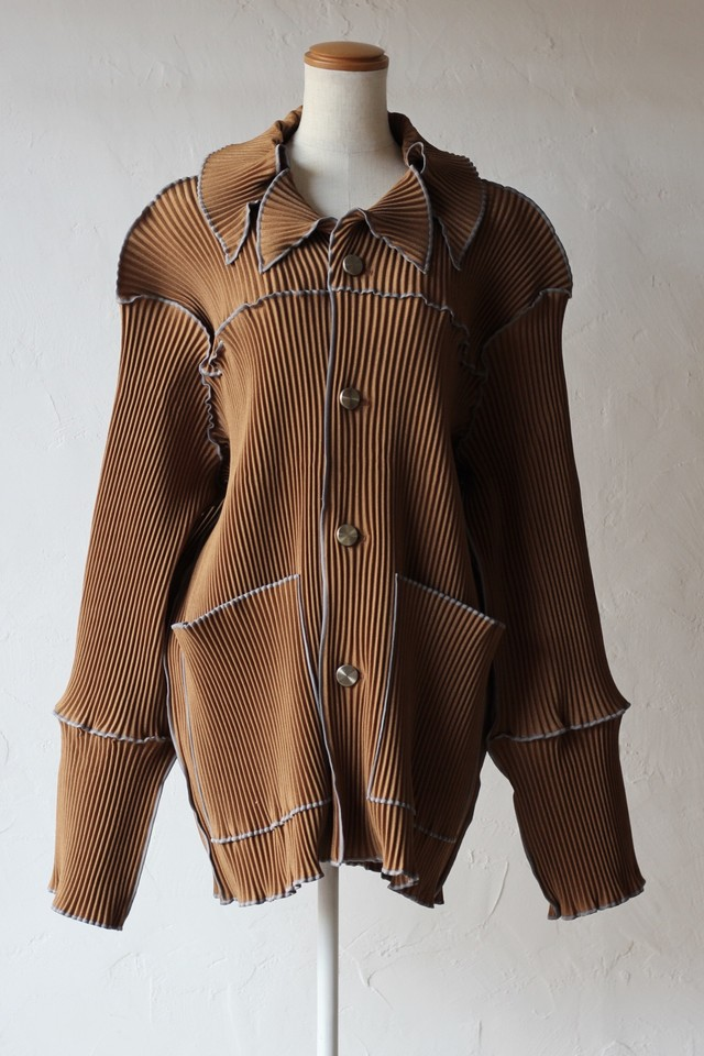 【kotohayokozawa】pleats coat-brown