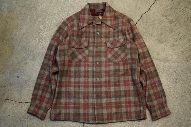 USED  70s Pendleton Board Shirt -Medium S0690
