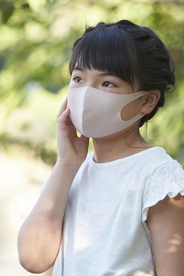 ご要望多数!限定数再販 「さら♥」 SSサイズマスク (お子様むけ)無地2枚セット 接触冷感・UVカット・吸汗速乾 #108