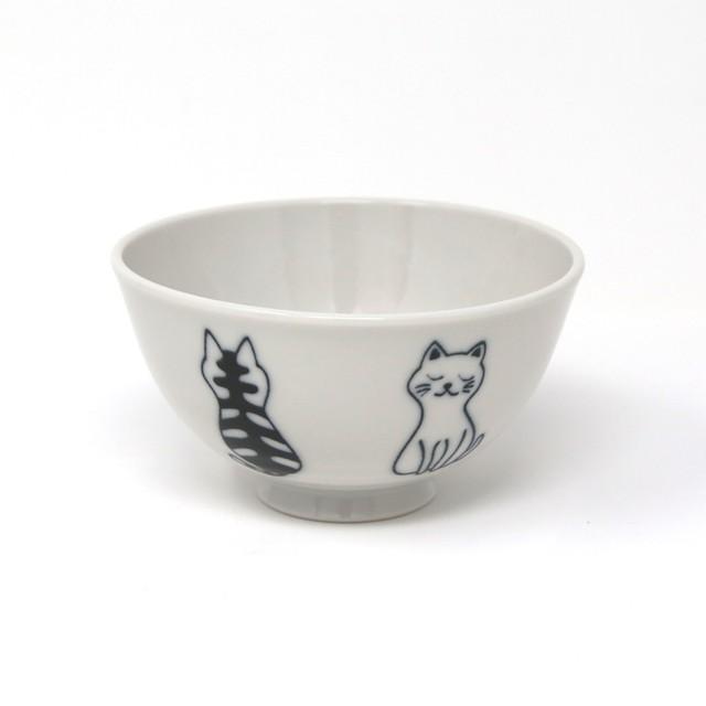 猫飯碗(美濃焼おすわり猫)