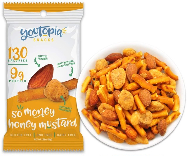 Youtopia Snacks ヘルシースナック So Money Honey Mustard 10袋セット