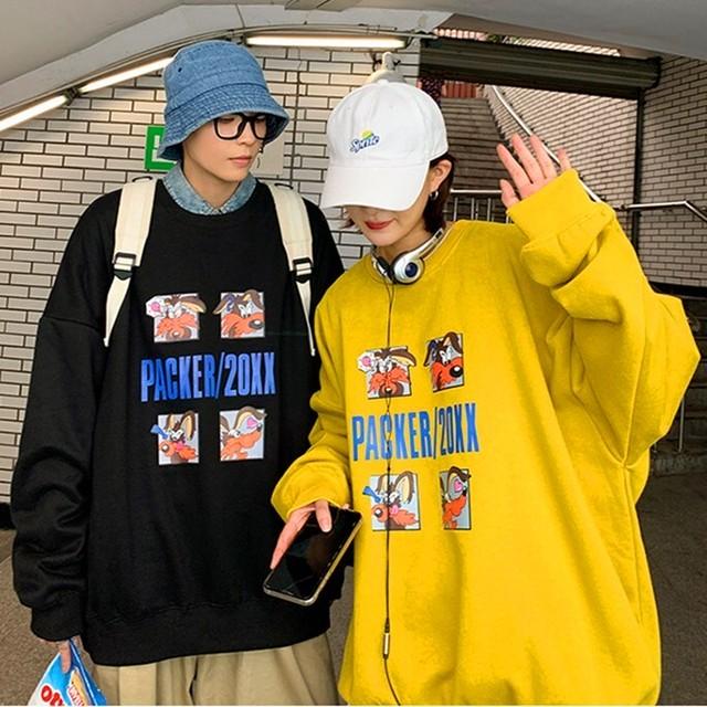 【トップス】アニメ図柄プリントカジュアル通勤人気パーカー33936249