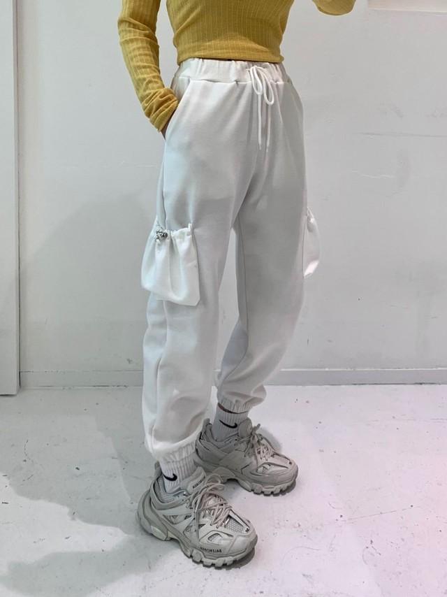2トーンカラーポケットパンツ パンツ ジョガー 韓国ファッション