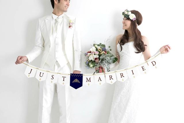 【Luxe】ウェディング ガーランド JUST MARRIED ★シンプルテイスト★