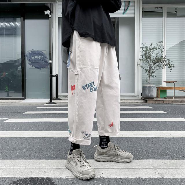 【ボトムス】ストリート系プリントカジュアルパンツ34120460