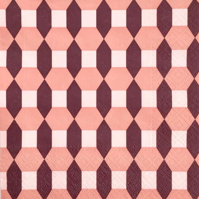 【normann COPENHAGEN】バラ売り1枚 ランチサイズ ペーパーナプキン SALUTE MILAN ピンク