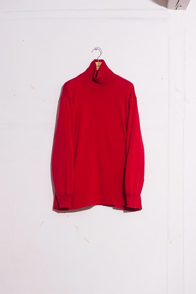DIGAWEL / Knit&Sewn Polo Neck(RED)