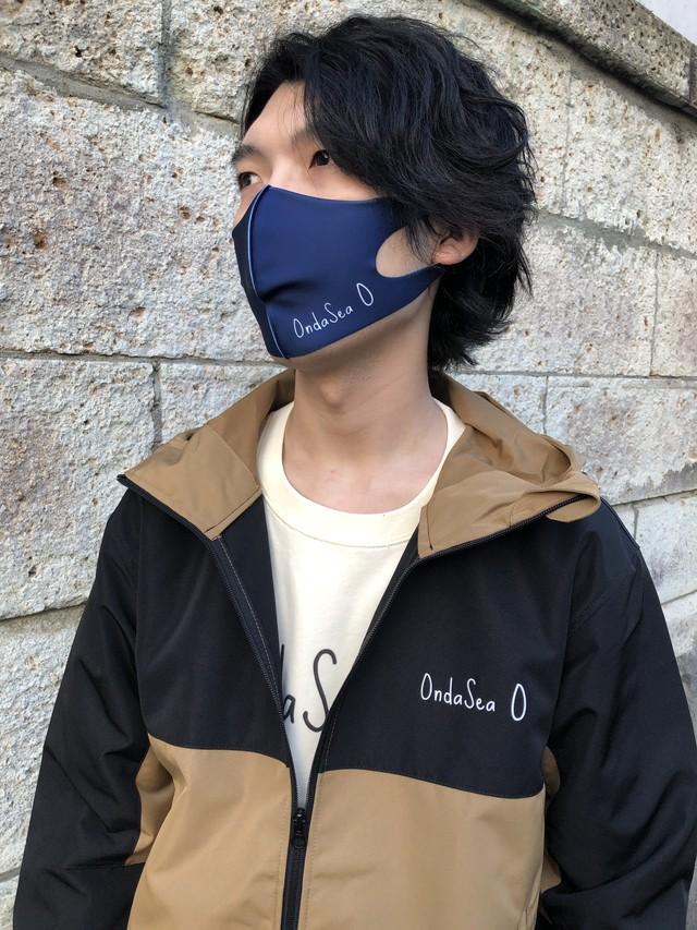 OndaSeaロゴデザインクール立体マスク(ネイビー)※オンラインストア限定販売