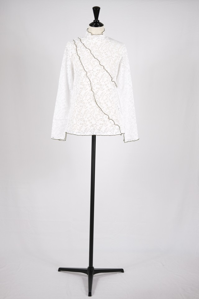 【MURRAL】stretch lace top - white