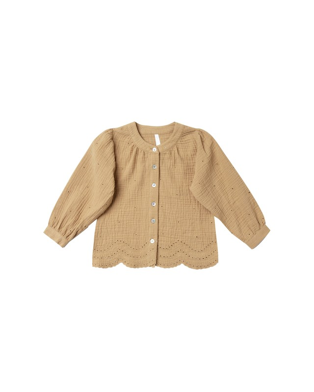 Rylee + Cru/eyelet meadow blouse