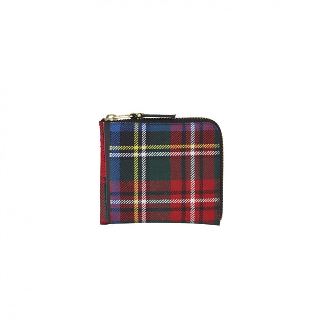 WALLET COMME des GARCONS【ウォレットコムデギャルソン】Tartan Patchwork Coin Case (RED)