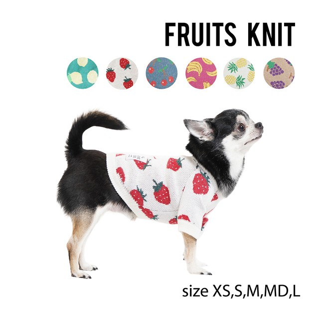 FRUITS KNIT(XS,S,M,MD) フルーツニット