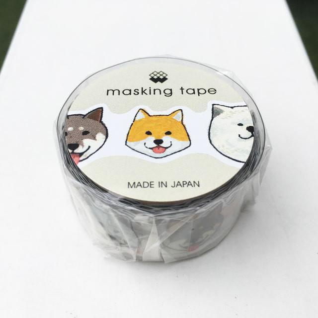 ダイカットマスキングテープ「ニッポンの犬」18mm