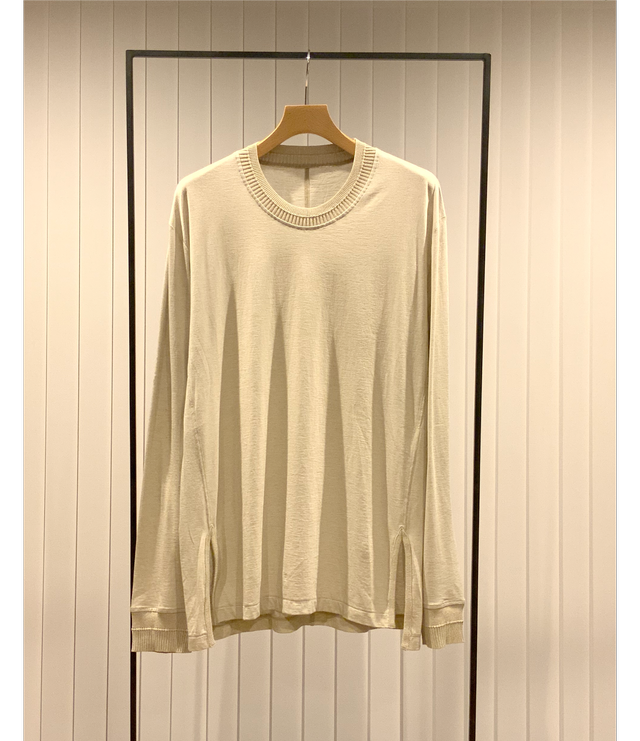 Long Sleeve Combination Cut and Sew / Greige