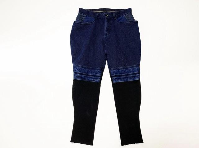 20SS 甘織りリネンクロップドパンツ / Loose weave linen cropped pants