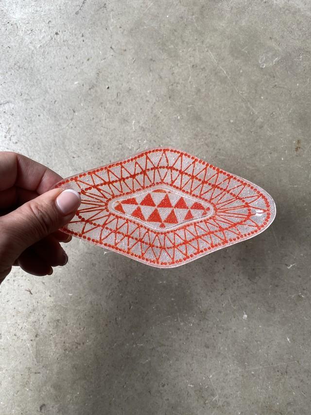 竹中悠記 色菱皿(小)