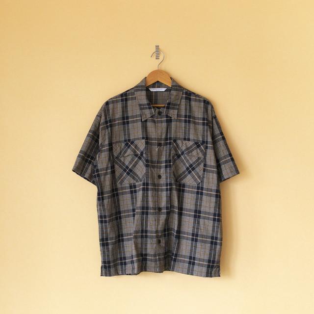Manual Alphabet マニュアルアルファベット check work shirt チェックワークシャツ・ネイビー