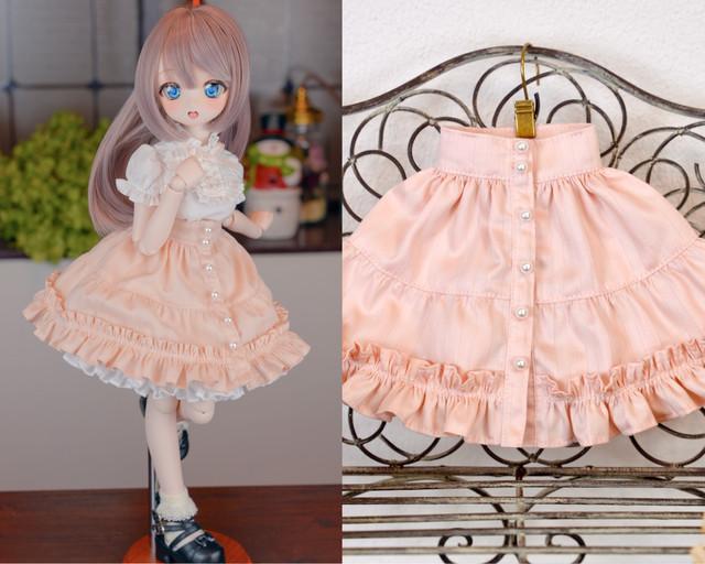 MDD / SDM / KUMAKO対応OF【おしゃまティアードスカート(ピンク)】MDD / SDM / KUMAKO Outfit【Oshama Tiered skirt(pink)】