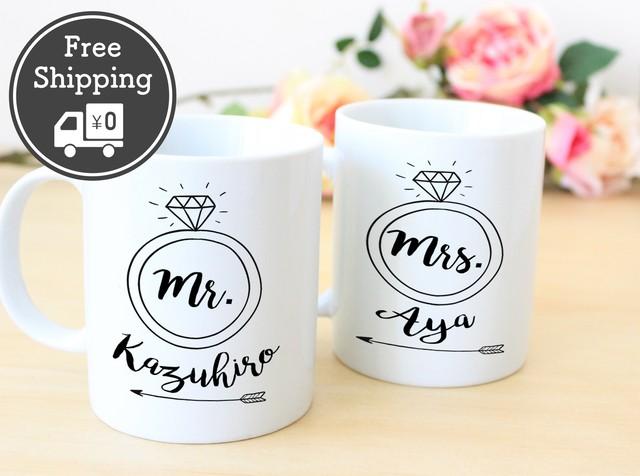 <送料無料> 結婚祝い ペア マグカップ【結婚指輪】│ウェディング 結婚祝い 結婚記念日