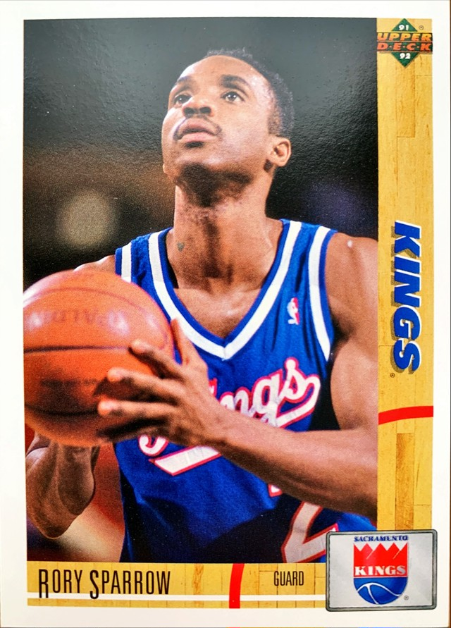 NBAカード 91-92UPPERDECK Rory Sparrow #395 KINGS